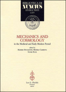 Libro Mechanics and cosmology in the Medieval and Early Modern Period