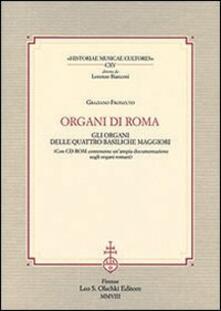 Organi di Roma. Con CD-ROM - Graziano Fronzuto - copertina
