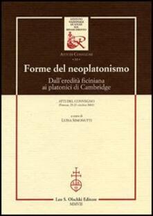 Antondemarirreguera.es Forme del neoplatonismo. Dall'eredità ficiniana ai platonici di Cambridge. Atti del Convegno (Firenze, 25-27 ottobre 2001) Image