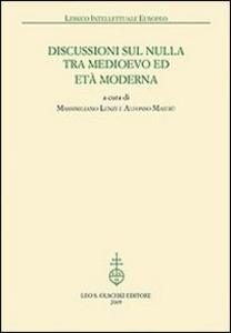 Libro Discussioni sul nulla tra Medioevo et Età Moderna
