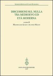 Discussioni sul nulla tra Medioevo et Età Moderna