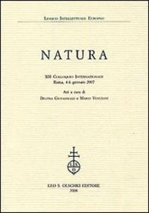 Natura. 12° Colloquio internazionale (Roma, 4-6 gennaio 2007)
