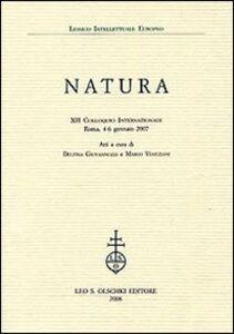 Libro Natura. 12° Colloquio internazionale (Roma, 4-6 gennaio 2007)
