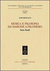 Musica e filosofia da Damone a Filodemo. Sette studi