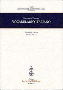 Foto Cover di Vocabulario italiano, Libro di Emanuele Tesauro, edito da Olschki