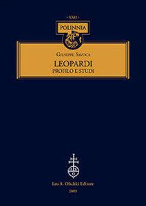 Foto Cover di Leopardi. Profilo e studi, Libro di Giuseppe Savoca, edito da Olschki