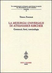 La «Musurgia universalis» di Athanasius Kircher. Contenuti, fonti, terminologia