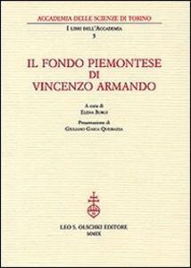 Il fondo piemontese di Vincenzo Armando