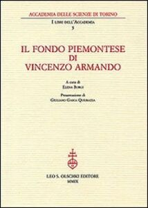 Foto Cover di Il fondo piemontese di Vincenzo Armando, Libro di  edito da Olschki