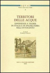 Libro Territori delle acque. Esperienze e teorie in Italia e in Inghilterra nell'Ottocento