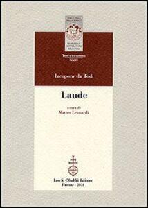 Libro Laude Iacopone da Todi