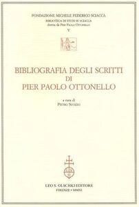 Libro Bibliografia degli scritti di Pier Paolo Ottonello