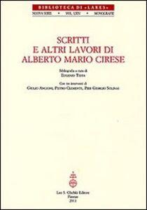 Foto Cover di Scritti e altri lavori di Alberto Mario Cirese, Libro di  edito da Olschki