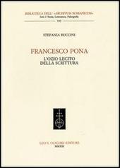 Francesco Pona. L'ozio lecito della scrittura