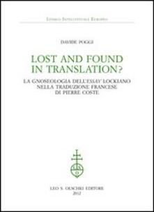 Amatigota.it Lost and found in translation? La gnoseologia dell'«Essay» lockiano nella traduzione francese di Pierre Coste Image