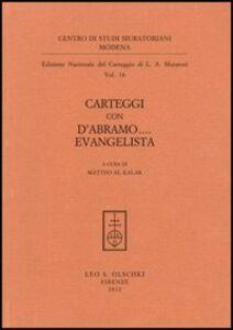 Libro Carteggi con D'Abramo... Evangelista Lodovico Antonio Muratori