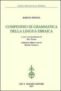 Libro Compendio di grammatica della lingua ebraica Baruch Spinoza