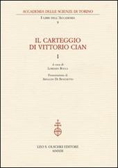 Il carteggio di Vittorio Cian