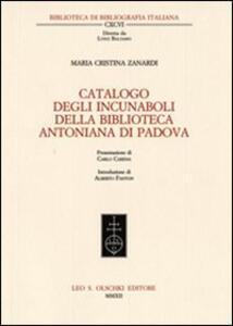 Catalogo degli incunaboli della Biblioteca Antoniana di Padova