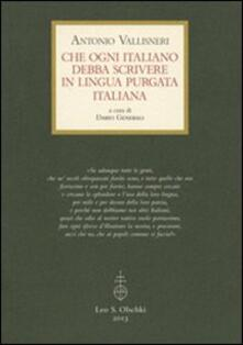 Recuperandoiltempo.it Che ogni italiano debba scrivere in lingua purgata italiana Image
