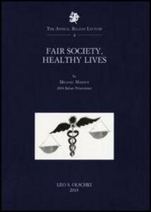 Libro Fair society, healthy lives Michael Marmot