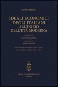 Ideali economici degli italiani all'inizio dell'età moderna