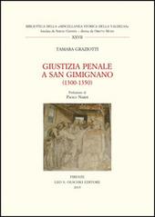 Giustizia penale a San Gimignano (1300-1350)