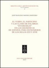 Verbo, el participio y las clases de palabras «invariables» en las gramáticas de español para extranjeros de los siglos XVI y XVII (El)
