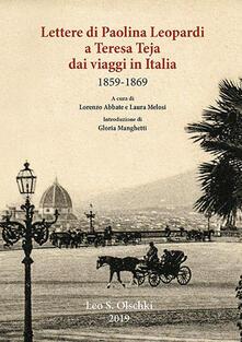 Winniearcher.com Lettere di Paolina Leopardi a Teresa Teja dai viaggi in Italia (1859-1869) Image