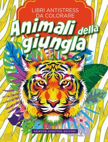 Animali della giungla. Libri antistress da colorare - copertina