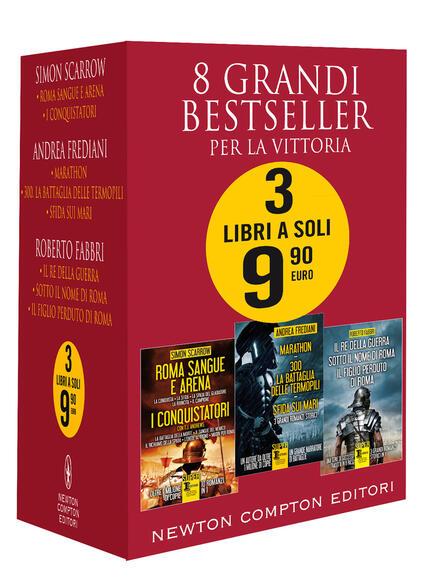 8 grandi bestseller. Per la vittoria - Roberto Fabbri,Andrea Frediani,Simon Scarrow - copertina