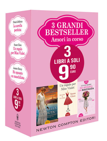 3 grandi bestseller. Amori in corso - Joanne Bonny,Gloss Susan,Dinah Jefferies - copertina