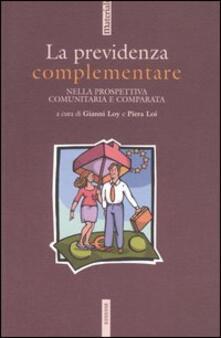 La previdenza complementare nella prospettiva comunitaria e comparata - copertina