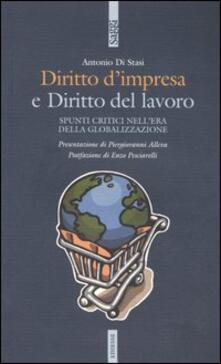 Birrafraitrulli.it Diritto d'impresa e diritto del lavoro. Spunti critici nell'era della globalizzazione Image