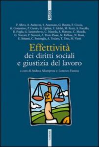 Libro Effettività dei diritti sociali e giustizia del lavoro