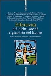 Effettività dei diritti sociali e giustizia del lavoro