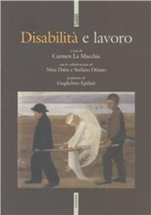 Disabilità e lavoro - copertina