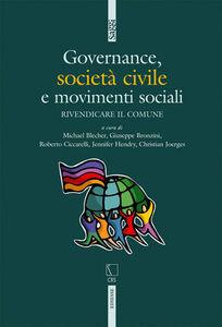 Foto Cover di Governance, società civile e movimenti sociali, Libro di  edito da Ediesse