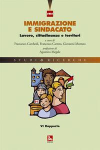 Foto Cover di Immigrazione e sindacato. Lavoro, cittadinanza e territori. 6° rapporto IRES, Libro di  edito da Ediesse