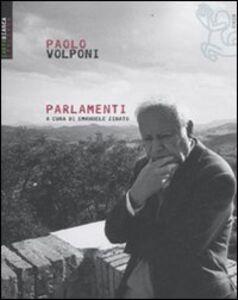 Libro Parlamenti Paolo Volponi
