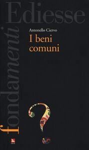 Libro I beni comuni Antonello Ciervo