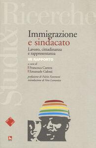 Foto Cover di Immigrazione e sindacato. Lavoro, cittadinanza e rappresentanza. VII rapporto, Libro di  edito da Ediesse