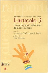 Libro L' articolo 3. Primo rapporto sullo stato dei diritti in Italia