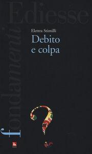 Libro Debito e colpa Elettra Stimilli