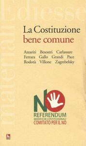 Libro La costituzione bene comune