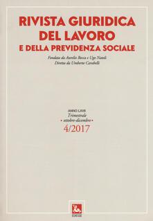 Squillogame.it Rivista giuridica del lavoro e della previdenza sociale (2017). Vol. 4: (Ottobre-Dicembre). Image