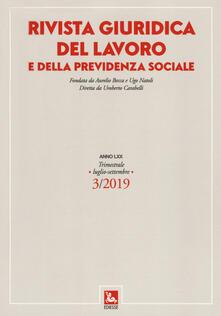 Ipabsantonioabatetrino.it Rivista giuridica del lavoro e della previdenza sociale (2019). Vol. 3: Luglio-settembre. Image