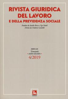 Listadelpopolo.it Rivista giuridica del lavoro e della previdenza sociale (2019). Vol. 4: Ottobre-dicembre. Image