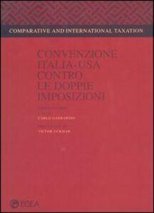 Foto Cover di Convenzione Italia-Usa contro le doppie imposizioni, Libro di  edito da EGEA