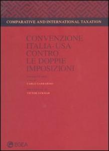 Libro Convenzione Italia-Usa contro le doppie imposizioni
